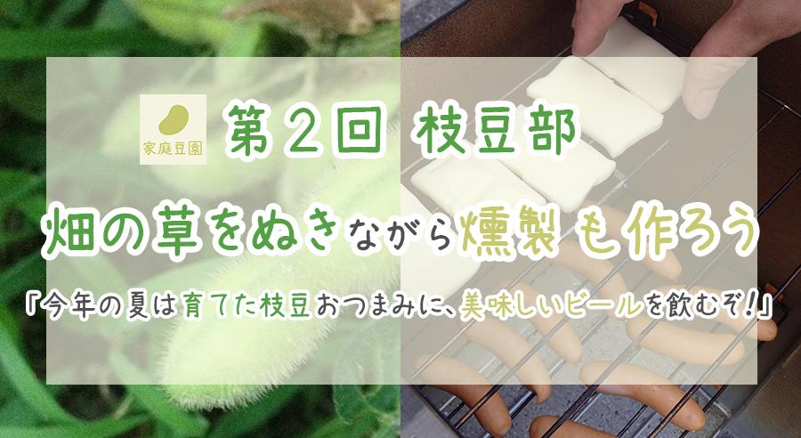 【第2回】畑の草をぬきながら自家製燻製もつくろう!